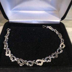 Jewelry - Black and white diamond one size bracelet